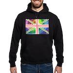 Rainbow Union Jack Flag Hoodie (dark)