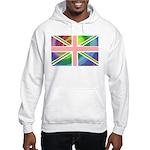 Rainbow Union Jack Flag Hooded Sweatshirt