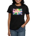Rainbow Union Jack Flag Women's Dark T-Shirt