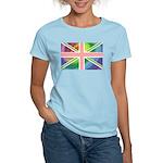 Rainbow Union Jack Flag Women's Light T-Shirt