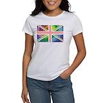 Rainbow Union Jack Flag Women's T-Shirt