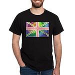 Rainbow Union Jack Flag Dark T-Shirt