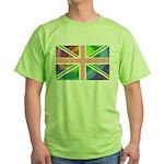 Rainbow Union Jack Flag Green T-Shirt