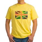 Rainbow Union Jack Flag Yellow T-Shirt