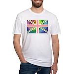 Rainbow Union Jack Flag Fitted T-Shirt