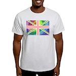 Rainbow Union Jack Flag Light T-Shirt