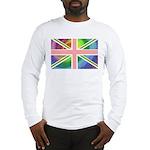 Rainbow Union Jack Flag Long Sleeve T-Shirt