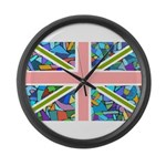 Blue Gaudi-inspired Union Jac Large Wall Clock