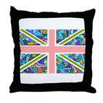 Blue Gaudi-inspired Union Jac Throw Pillow