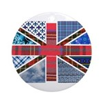 Tartan and other patterns uni Ornament (Round)