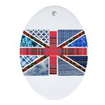 Tartan and other patterns uni Ornament (Oval)