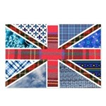 Tartan and other patterns uni Postcards (Package o