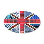 Tartan and other patterns uni 22x14 Oval Wall Peel