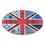 Tartan and other patterns uni Sticker (Oval 50 pk)