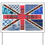 Tartan and other patterns uni Yard Sign