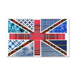 Tartan and other patterns uni Car Magnet 20 x 12