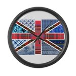 Tartan and other patterns uni Large Wall Clock