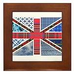 Tartan and other patterns uni Framed Tile