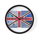 Tartan and other patterns uni Wall Clock