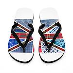 Tartan and other patterns uni Flip Flops