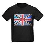 Tartan and other patterns uni Kids Dark T-Shirt