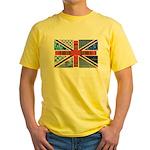 Tartan and other patterns uni Yellow T-Shirt