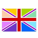 Rainbow British Flag Postcards (Package of 8)