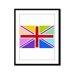 Rainbow British Flag Framed Panel Print