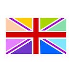 Rainbow British Flag 38.5 x 24.5 Wall Peel