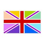 Rainbow British Flag 22x14 Wall Peel