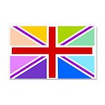 Rainbow British Flag Car Magnet 20 x 12
