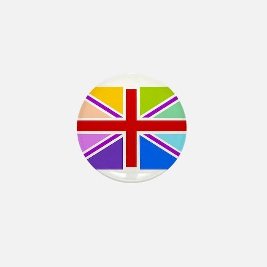 Rainbow British Flag Mini Button