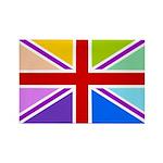 Rainbow British Flag Rectangle Magnet (10 pack)