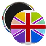 Rainbow British Flag 2.25