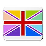 Rainbow British Flag Mousepad