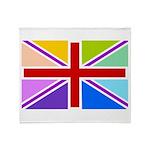 Rainbow British Flag Throw Blanket