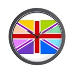 Rainbow British Flag Wall Clock
