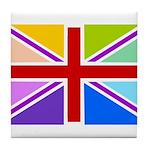 Rainbow British Flag Tile Coaster