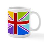 Rainbow British Flag Mug
