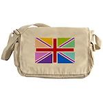 Rainbow British Flag Messenger Bag