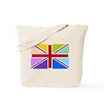 Rainbow British Flag Tote Bag