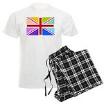 Rainbow British Flag Men's Light Pajamas