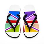Rainbow British Flag Flip Flops