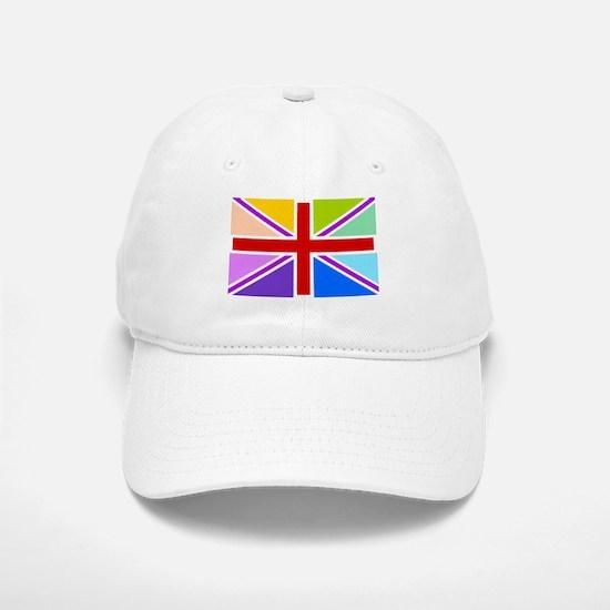 Rainbow British Flag Baseball Baseball Cap