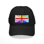 Rainbow British Flag Black Cap