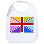 Rainbow British Flag Bib
