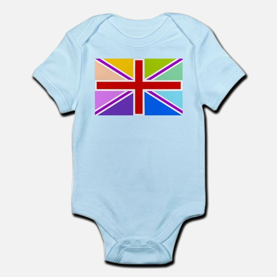 Rainbow British Flag Infant Bodysuit