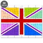Rainbow British Flag Puzzle