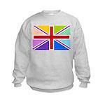 Rainbow British Flag Kids Sweatshirt