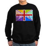 Rainbow British Flag Sweatshirt (dark)